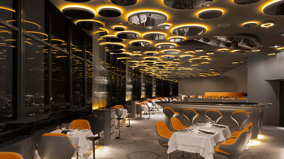 Le ciel de paris artemide north america for Restaurant interior design app